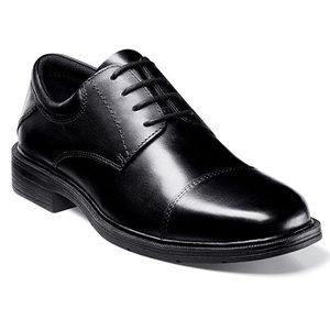 Nunn Bush Gel sole leather dress shoes black
